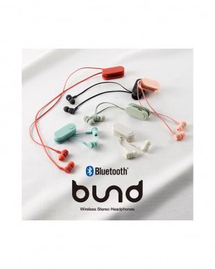 オリーブカーキ 「ワイヤレスイヤホン」 Bluetooth/巻き取りタイプ/クリップ付きを見る