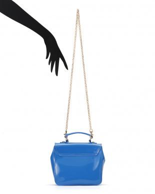 ブルー Candy チェーンショルダー付 2WAYバッグを見る