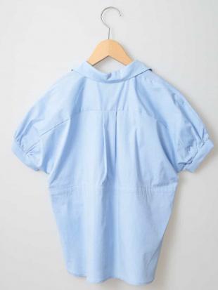 ブルー [100-130]ウエストドロストチュニックシャツ[WEB限定サイズ] a.v.v bout de chouを見る
