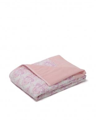 ピンク 表ガーゼ 洗える 合繊肌掛けふとん シングルを見る