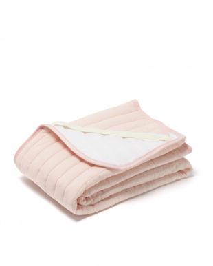 サーモンピンク シングル 2重ガーゼ 敷きパッドを見る