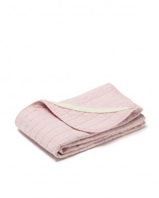 ピンク シングル 水洗いキルト 敷きパッドを見る
