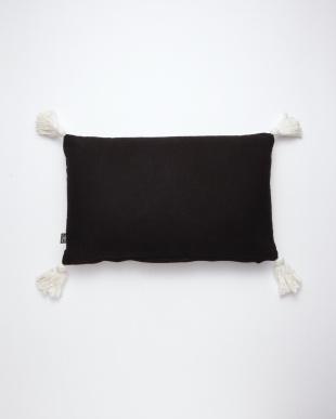 刺繍レクタングルクッション(中綿付) ブラックを見る