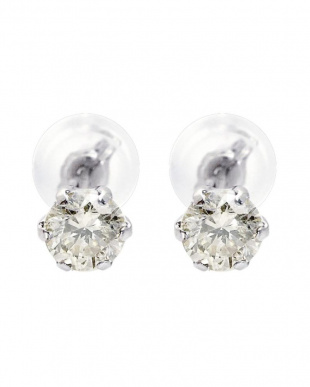 Pt900 天然ダイヤモンド 計0.5ct 6本爪 プラチナスタッドピアス [カード鑑別書付]を見る