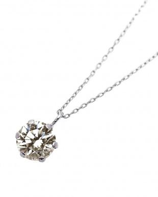 PT 天然ダイヤモンド 0.5ct 6本爪 プラチナネックレス [カード鑑別書付/5cmAJサービス]を見る