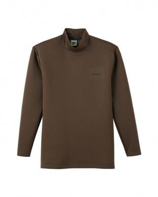 ダークブラウン ハイネックロングスリーブシャツ×2SETを見る