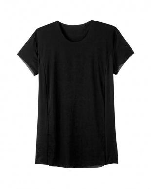 ブラック クルーネックTシャツ(脇パッド付)×3SETを見る