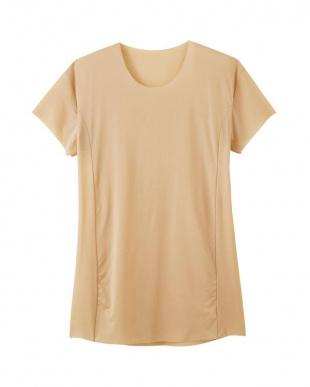 ロッシュベージュ クルーネックTシャツ(脇パッド付)×3SETを見る