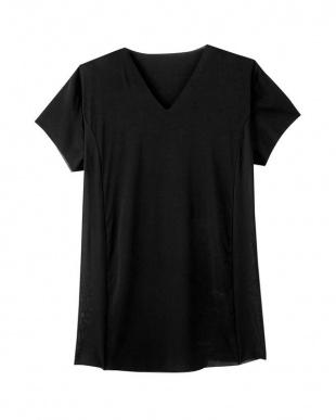ブラック VネックTシャツ(脇パッド付)×3SETを見る