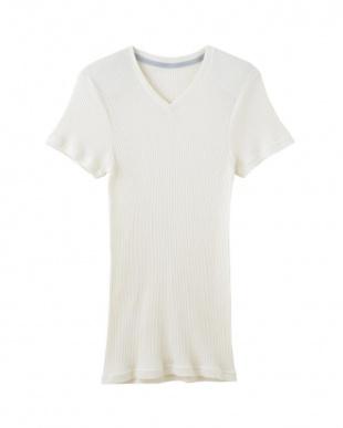 オフホワイト VネックTシャツ×3SETを見る