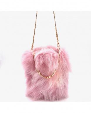 ピンク フォックスファー3Way チェーンバッグ付かごバッグを見る