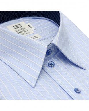 ライトブルー 形態安定ノーアイロン レギュラー  長袖ビジネスワイシャツを見る
