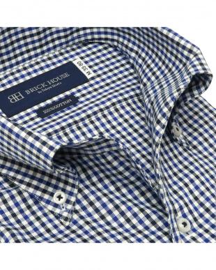 ネイビー 形態安定ノーアイロン ワンピースボタンダウン 長袖ビジネスワイシャツを見る