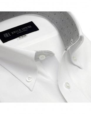 ホワイト 形態安定ノーアイロン ポケクロ ボタンダウン  長袖ビジネスワイシャツを見る