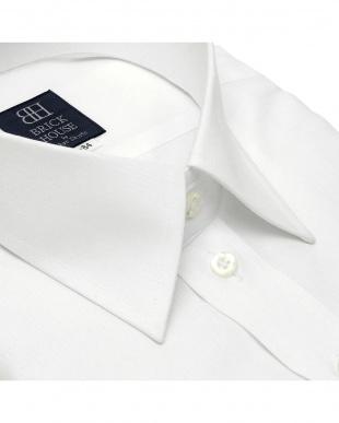 ホワイト 形態安定ノーアイロン レギュラー 長袖ビジネスワイシャツを見る