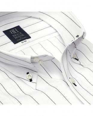 ホワイト 形態安定ノーアイロン ドゥエボットーニ ボタンダウン 長袖ビジネスワイシャツを見る