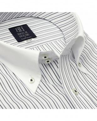 グレー 形態安定ノーアイロン ラクリア クレリックドゥエボットーニボタンダウン 長袖ビジネスワイシャツを見る