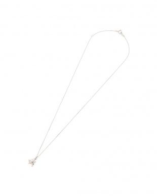 ホワイトゴールド K18WG ワンポイントダイヤ ウミガメ ネックレスを見る