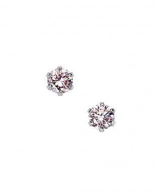 プラチナ ピンクダイヤモンド ピアスを見る