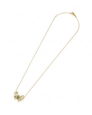 イエローゴールド K18YG レモンクォーツ/アレキサンドライト バタフライ ネックレスを見る