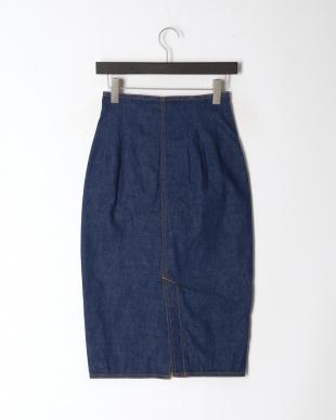 ブルークラシック LAUREL フロントボタンデニムスカートを見る
