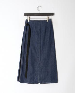 ブルー SAFINIA[br]ボックスプリーツ デニムスカートを見る