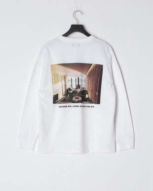 WHITE ドロップショルダープリントTシャツ(Nothing will work)を見る
