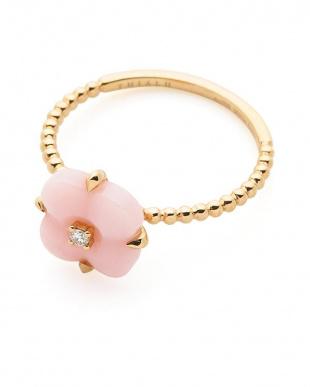 ピンク 18KRGピンクオパール×ダイヤモンド リングを見る