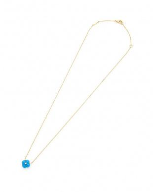 ブルー 18Kブルーカルセドニー×ダイヤモンド ネックレスを見る