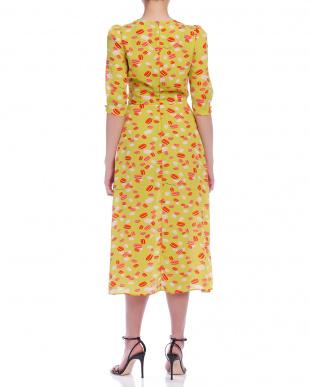 オリーブ カシュクール風 プリント 七分袖ドレスを見る