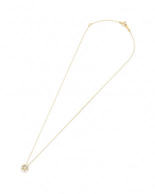 イエローゴールド K18YG ハートアンドキューピッドダイヤモンド ネックレスを見る