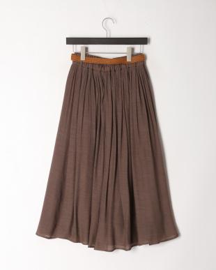 モカ ベルト付きギャザースカートを見る