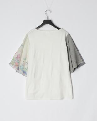 オフホワイト きのこ深海柄 袖切替Tシャツを見る