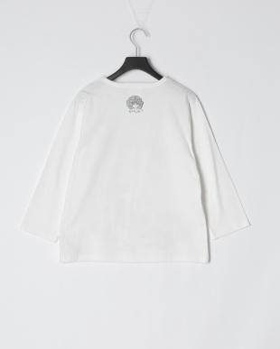 オフホワイト キノコメルヘン柄七分Tシャツを見る