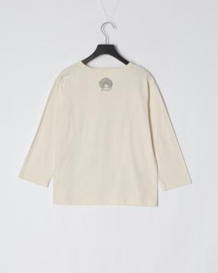 アイボリー キノコメルヘン柄七分Tシャツを見る
