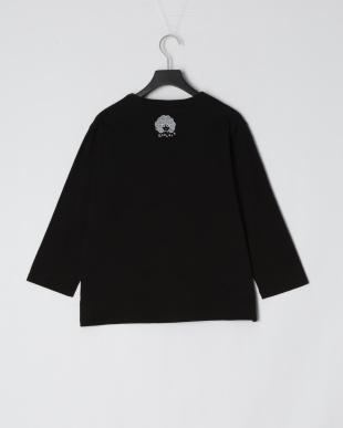 ブラック キノコメルヘン柄七分Tシャツを見る