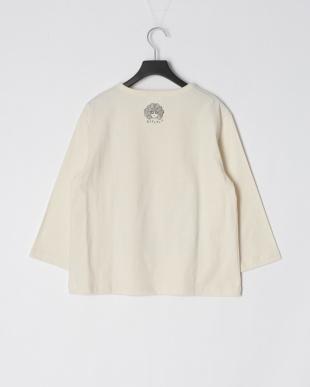 アイボリー スカラーナイン柄七分袖Tシャツを見る