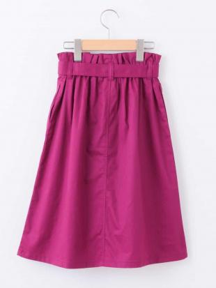 パープル [100-130]ベルト付きミディ丈スカート[WEB限定サイズ] a.v.v bout de chouを見る