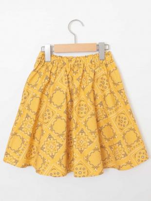 イエロー [100-130]カラー&プリントギャザースカート[WEB限定サイズ] a.v.v bout de chouを見る