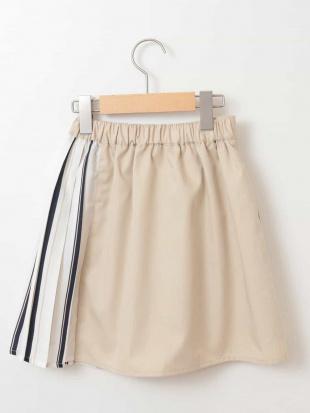 ベージュ [100-130]ストライププリーツ切り替えスカート[WEB限定サイズ] a.v.v bout de chouを見る