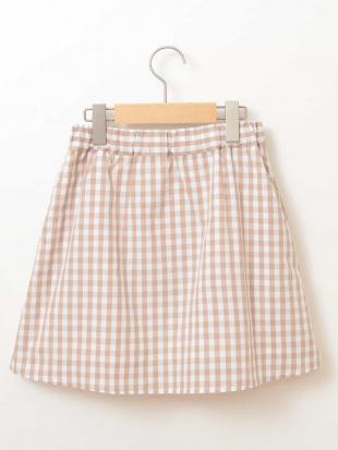 ベージュ [100-130]ギンガムチェック切り替えスカート[WEB限定サイズ] a.v.v bout de chouを見る