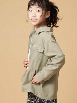 カーキ [120-130]ワークシャツジャケット[WEB限定サイズ] a.v.v bout de chouを見る