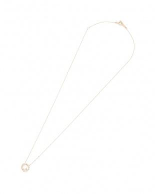 ピンクゴールド K10PG ダイヤモンドホワイトトパーズ スターライト×ムーン ネックレスを見る