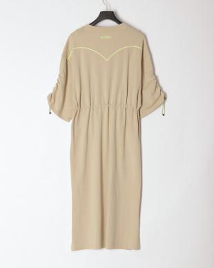 PALE KHAKI NICORON DRESSを見る