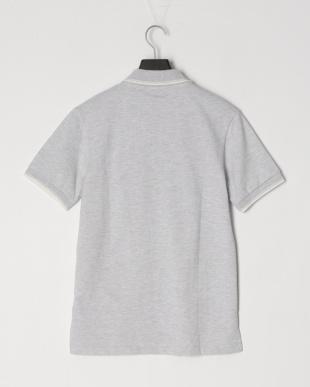ライトグレー ○ 鹿の子編み半袖ポロシャツ○48355を見る