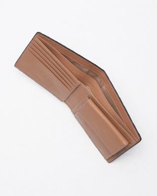 ダークブラウン 牛革製 イントレチャート 二つ折り財布を見る