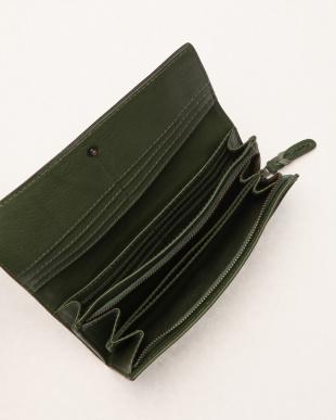 グリーン カブセ長財布を見る