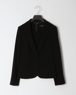 ブラック フォーマル テーラードカラージャケット&ブラウス&パンツ&スカート 4点セットを見る