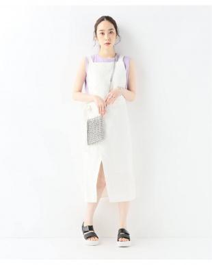 ホワイト [ZII ROPA]lima overall dress:ワンピースを見る