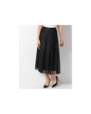 ブラック5 フラワー刺繍フレアスカート アナイ アウトレットを見る